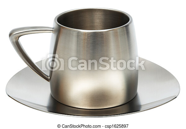 Steel cup with saucer - csp1625897