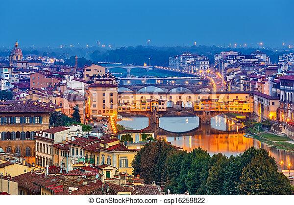 Bridges in Florence - csp16259822