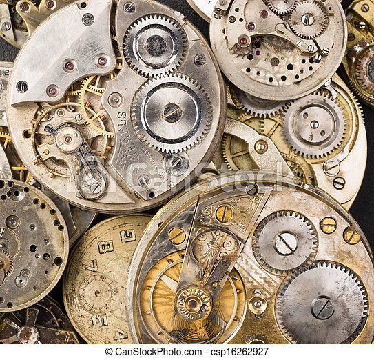 Gold Silver Precision Antique Vintage Pocket Watch Bodies Parts  - csp16262927