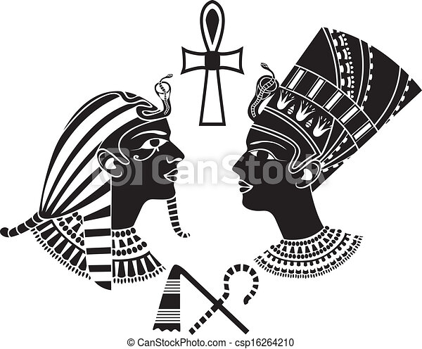 Egyptian Headdress Drawing Vector Ancient Egypt King