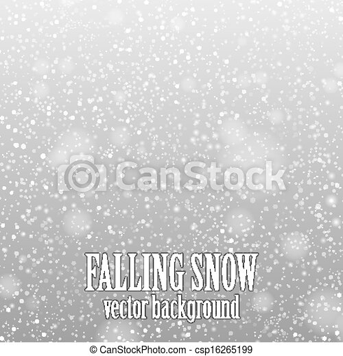 falling snow - csp16265199