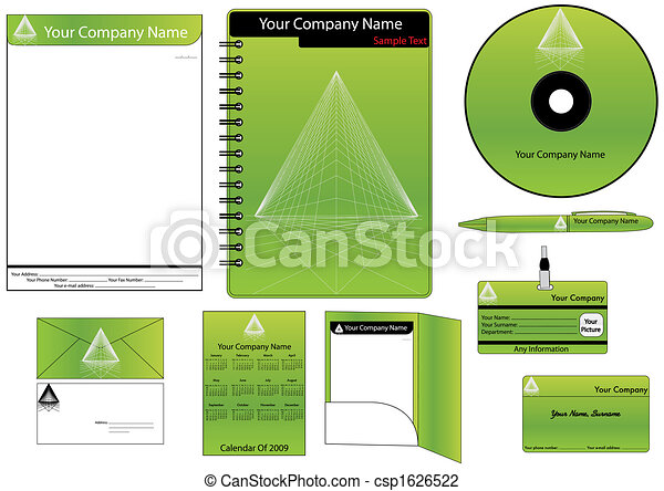 Corporate Identity Template Vector set (calendar, almanac, card) - csp1626522