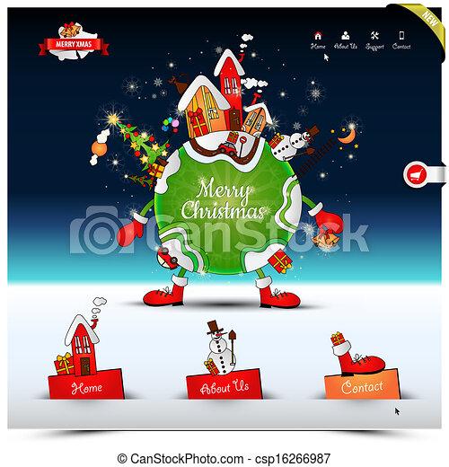 vektor von website weihnachten schablone nacht. Black Bedroom Furniture Sets. Home Design Ideas