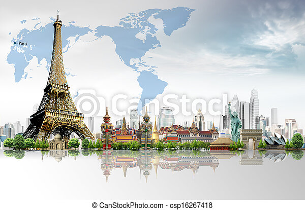 Travel concept, Eiffel Tower