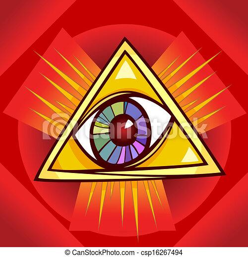 eye of providence illustration - csp16267494