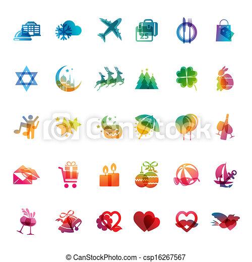 Set of holidays icons - csp16267567