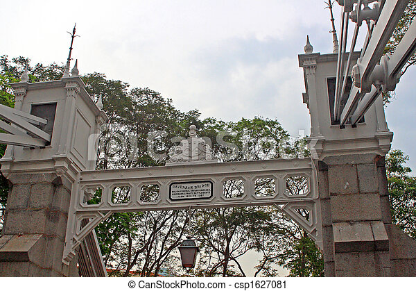 Cavenach Bridge, Singapore - csp1627081