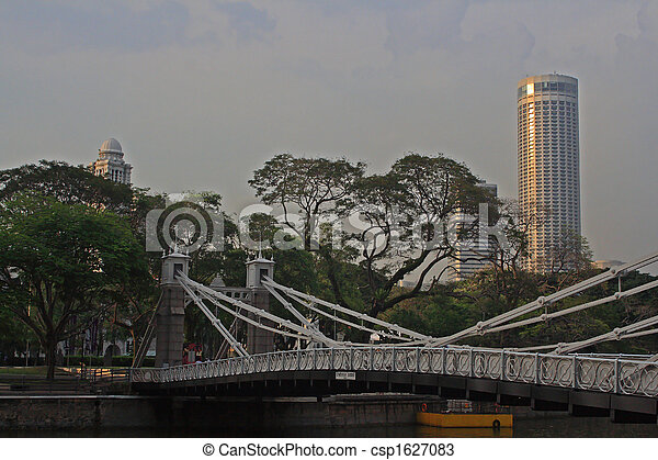 Cavenach Bridge, Singapore - csp1627083