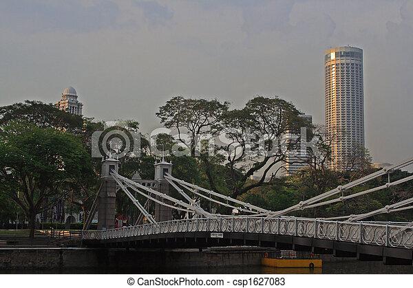 Cavenach Bridge, Singapore - csp1627083