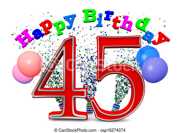 stock illustrations of happy 45th birthday csp16274074 50th birthday clipart transparent 50th birthday clipart transparent