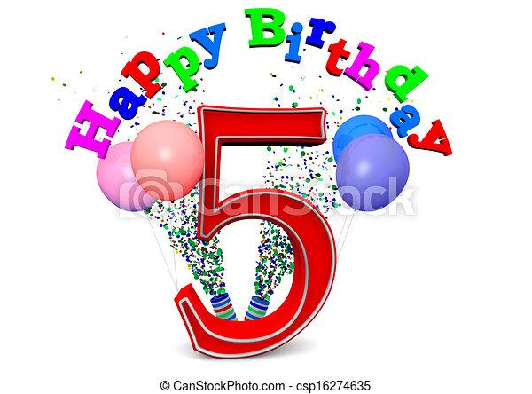 happy 5th birthday - csp16274635