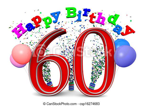 happy 60th birthday - csp16274683