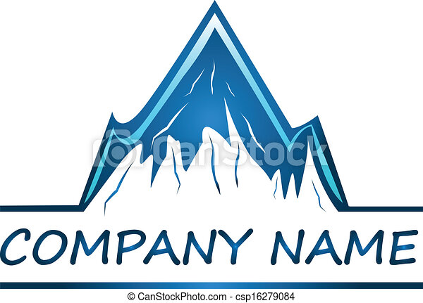 Vector of Mountains company logo - csp16279084
