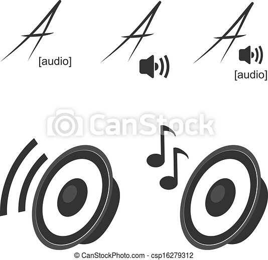 car speakers clipart. vector clip art of speaker icons symbols volume music car speakers clipart