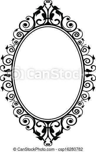Vector of vintage mirror - Vector illustration of vintage ... Vintage Hand Mirror Clipart