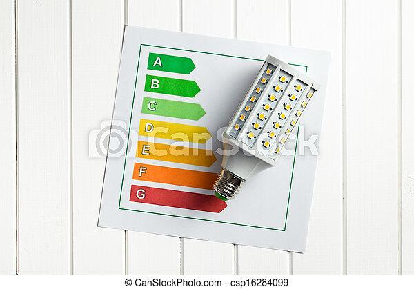 LED lightbulb with energy label - csp16284099