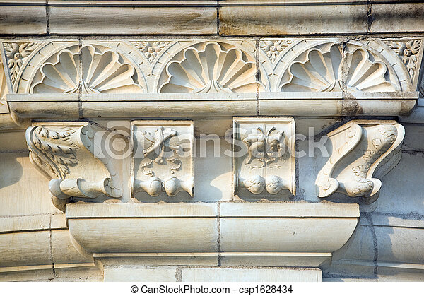 castle architecture detail - csp1628434