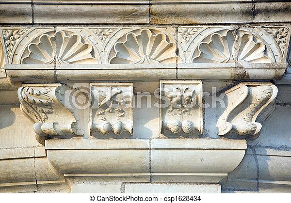 castle architecture detail - csp1628434