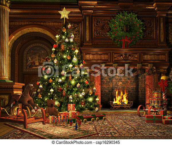 A Very Merry Christmas - csp16290345