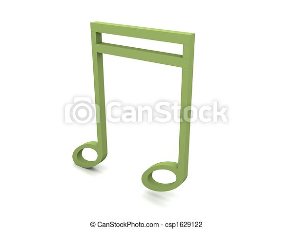 three dimensional clef in green color - csp1629122