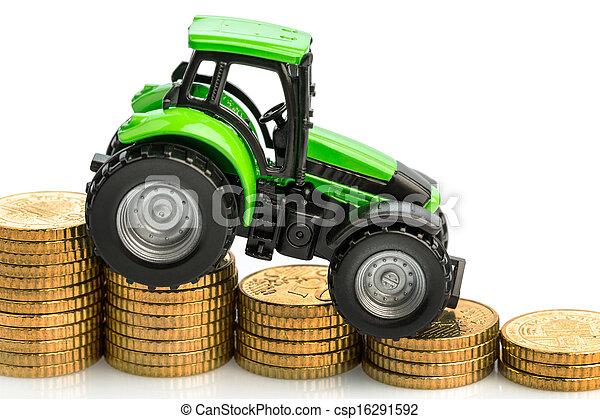 levantamiento, costes, Agricultura - csp16291592