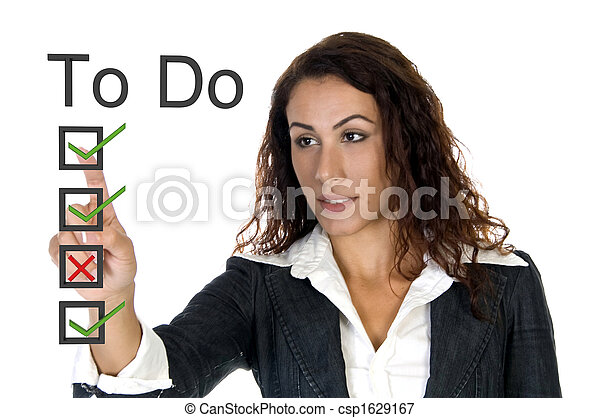 female corporate ceo - to do list - csp1629167
