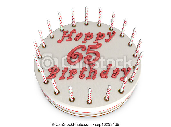 Stock Illustration of cream pie for 65th birthday - cream pie with ...