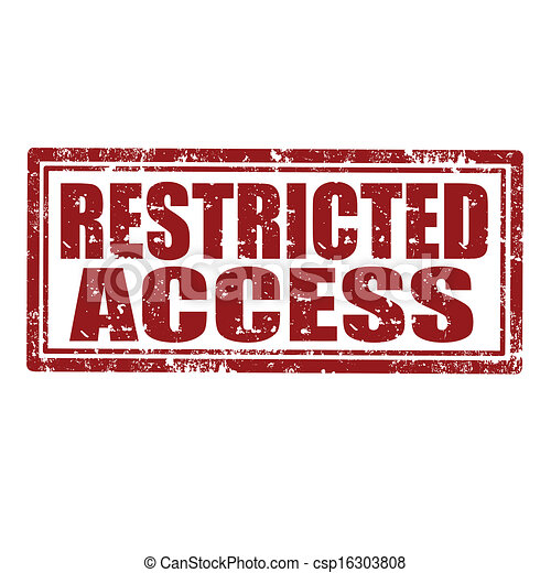 Vector Clipart of Restricted Access-stamp - Grunge rubber stamp ...