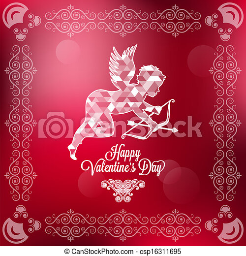 holiday frame happy valentines day  - csp16311695