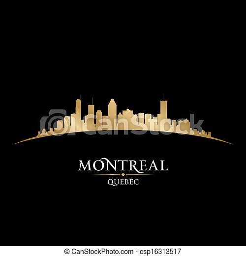 Montreal Quebec Canada city skyline silhouette. Vector illustration - csp16313517