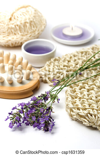 Lavender and spa massage set - csp1631359