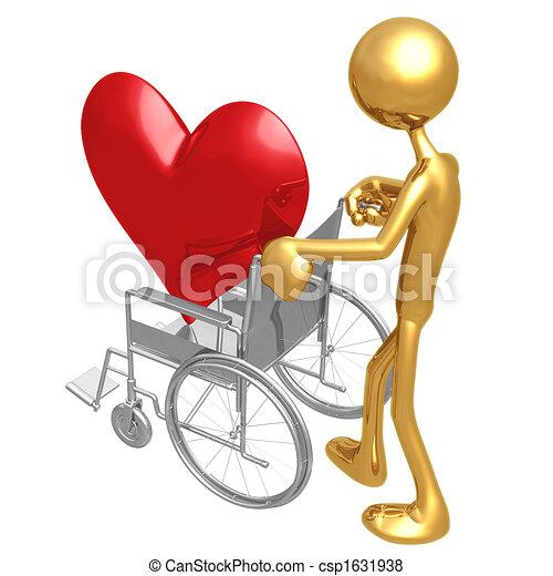 Heart Health Wheelchair - csp1631938
