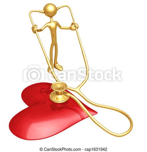 Heart Health Stethoscope - csp1631942