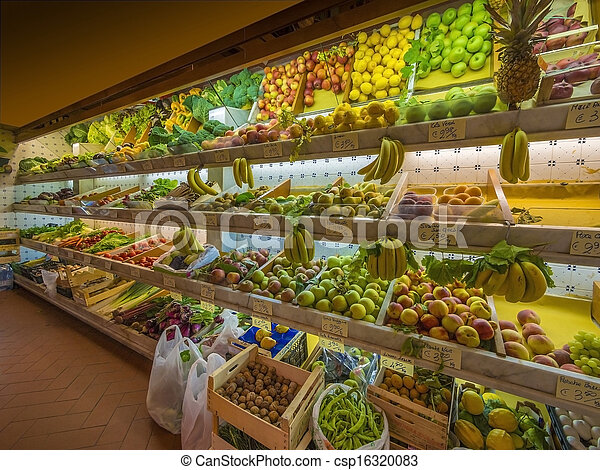 Fresh vegetables and fruits - csp16320083