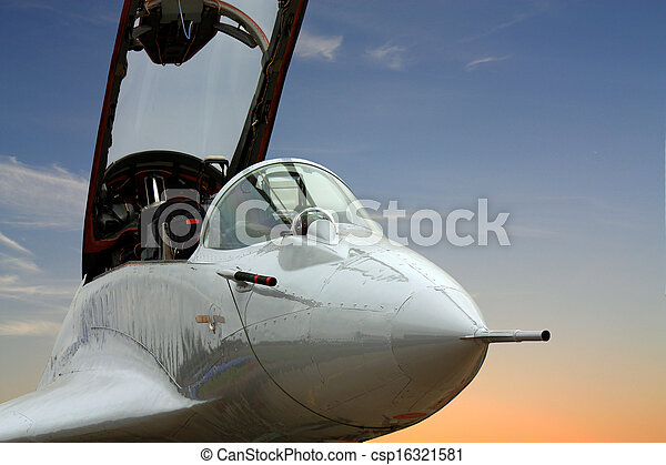 Cockpit of the military jet - csp16321581