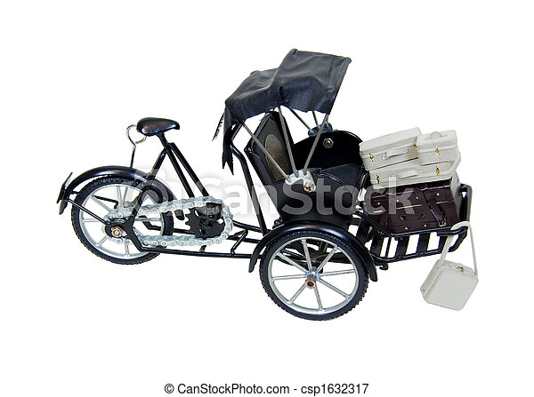 Rickshaw and luggage - csp1632317