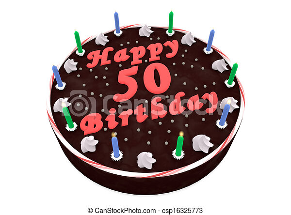 Stock Illustrations of chocolate cake for 50th birthday - chocolate ...