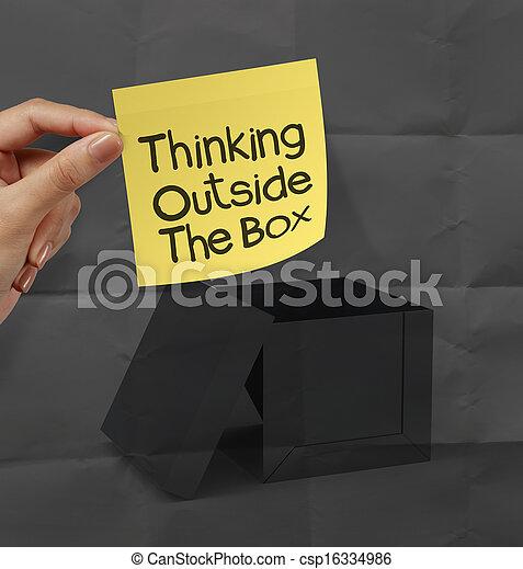Pel culas de caja arrugado concepto pensamiento for Concepto de exterior