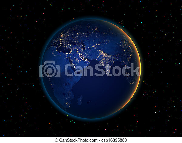 Night earth from space