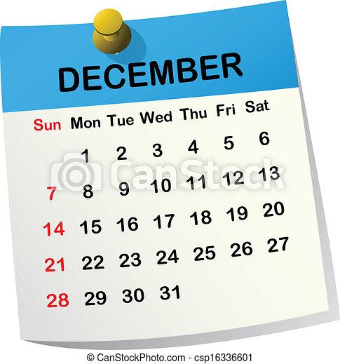 Clipart vettoriali di 2014 calendario dicembre 2014 for Clipart calendario