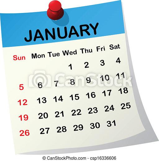Clipart vettoriali di 2014 calendario gennaio 2014 for Clipart calendario