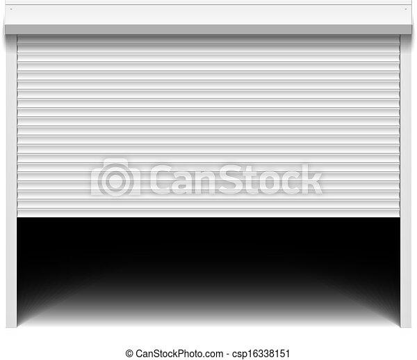 Clipart Vector Of Roller Shutter Garage Door Csp16338151