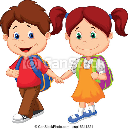 happy children cartoon come with ba csp16341321 - Cartoon Drawings Of Children