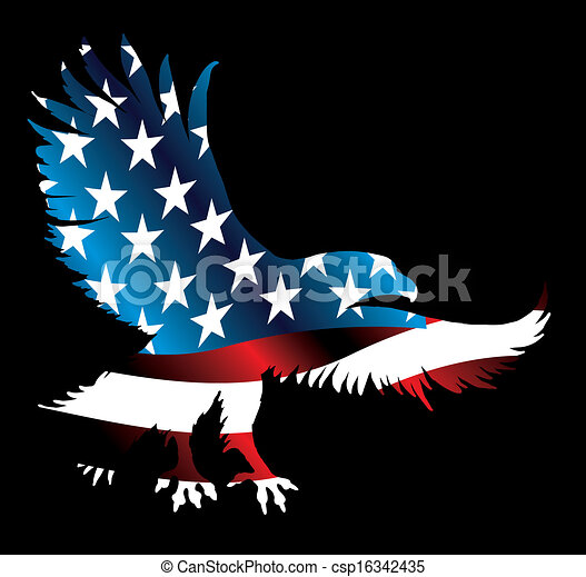 american eagle and flag vector  Eagle With Flag Clip Art