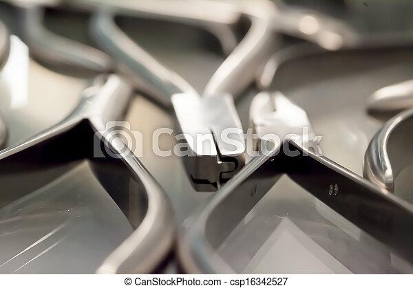 Dental surgeon tools - csp16342527