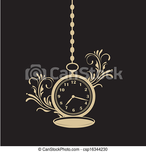 Vector , bolsillo, textura, reloj