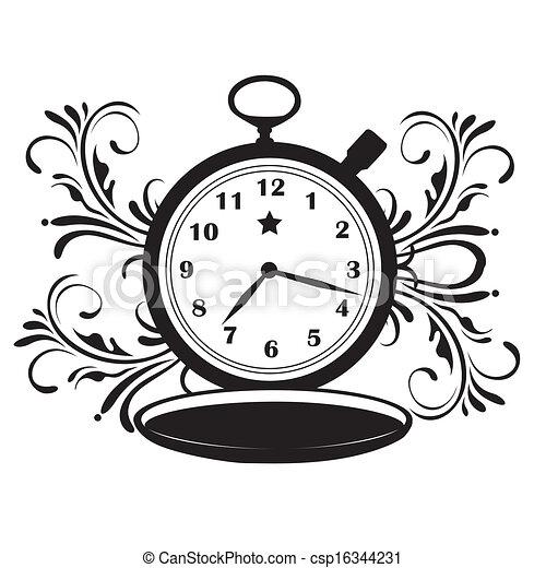 Vector , bolsillo, estrella, reloj