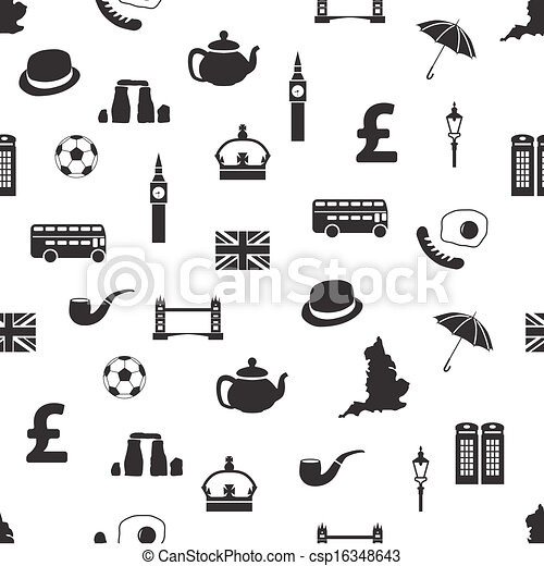 EPS Vector of england seamless pattern csp16348643 ...