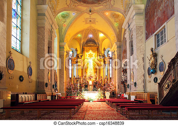 Sanctuary Church, where faith and religious rituals. - csp16348839