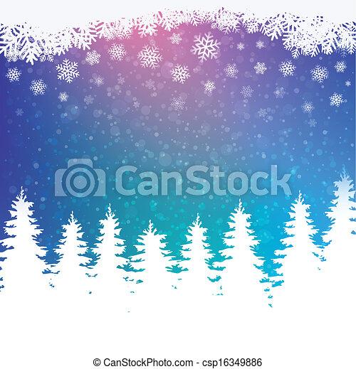winter snowy background - csp16349886